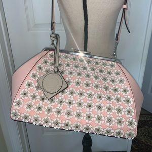 Catherine Malandrino saffiano leather satchel bag